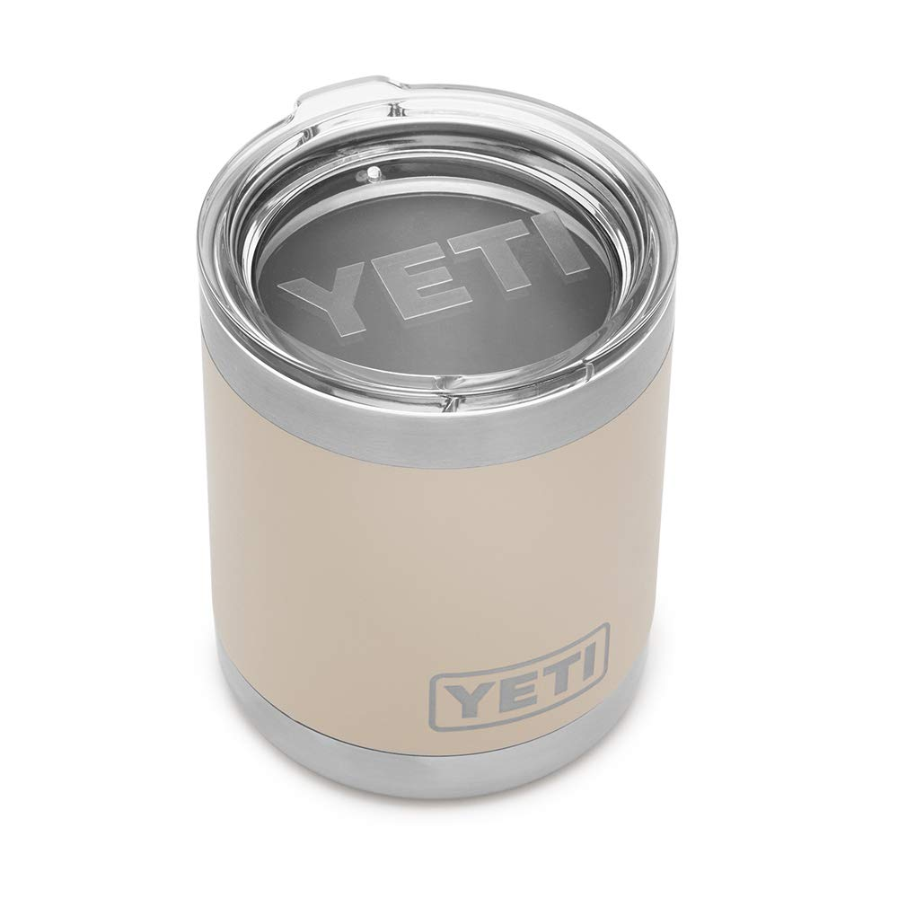 YETI Rambler 10 oz Vacuum Insulated Stainless Steel Lowball with Lid, Sand by YETI (Image #3)