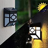 Nikoy Solar Light Waterproof Solar Powered LED Garden Light Warm Light Outdoor Emergency Wall Lamp (Waterproof and Weather Resistance)