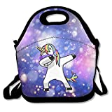 Dabbing Dance Unicorn Lunch Tote Bag Bags Awesome Lunch Handbag Lunchbox Box For School Work Outdoor