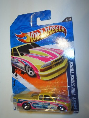 2011 Hot Wheels Chevy Pro Stock Truck HW drag racers yellow #129 9 of 10