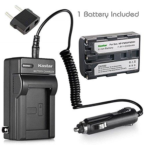 Kastar NPFM50 Battery (1-Pack) + Charger for Sony NP-FM30 NP-FM50 NP-FM51 NP-QM50 NP-QM51 NP-FM55H and CCD-TR DCR-PC DCR-TRV DCR-DVD DSR-PDX GV HVL Series Camcorder (search the model in description)