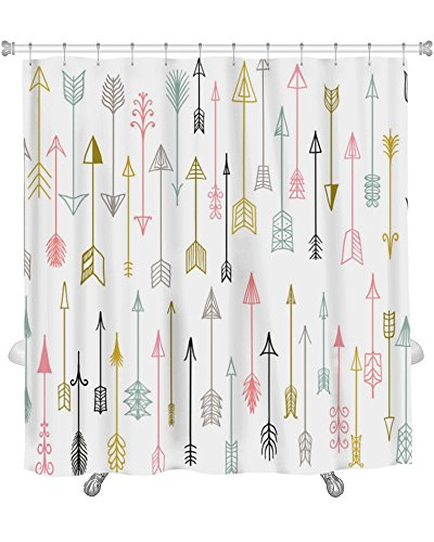 Amazon Gear New Premium Shower Curtain Hand Drawn Arrows Collection 71x74 Inches GN30621 Home Kitchen