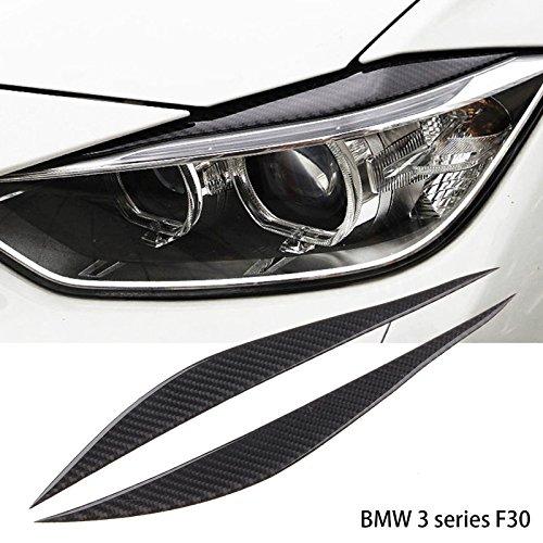 Carbon Fiber Headlight Eyebrows Eye Lid Sticker For BMW 3 Series F30 2013-2017