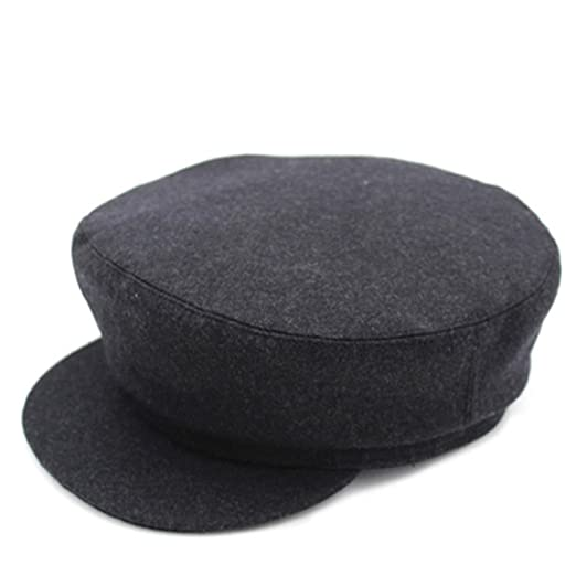 fdd9ab4a9501d Aged cap  Men s Spring and Autumn hat Flat caps  Woolen winter hat Old hat   Middle-aged men s hats-C One Size at Amazon Men s Clothing store