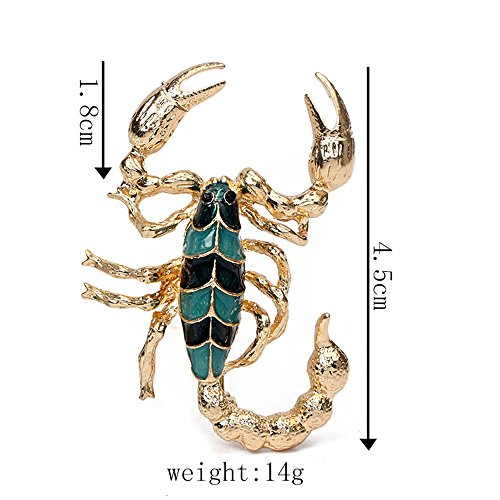- MINGHUA Gold Silver Cool Scorpion Brooch Pins for Men Dress (Gold)
