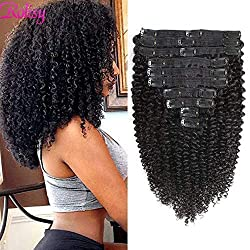 Rolisy Kinky Curly Clip in Hair Extensions