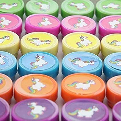 24 x Einhorn SELLO kinderstempel CABALLO ANIMAL REGALO ...