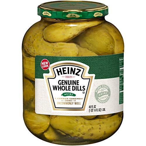 Heinz Genuine Whole Dill Pickles, 46 oz Jar