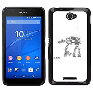 LECELL--Funda protectora / Cubierta / Piel For Sony Xperia E4 -- AT AT Walker --