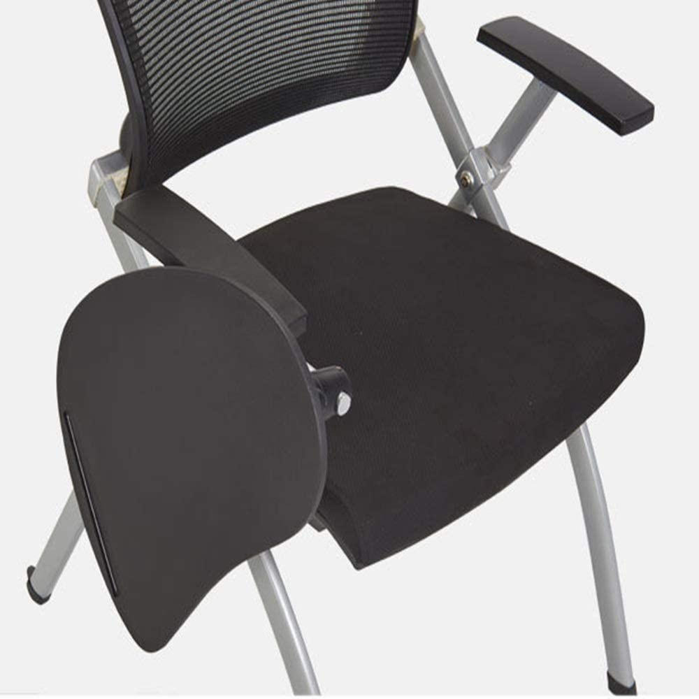 Color : Black, Size : 63x49x81cm YADSHENG Folding Chair with Handed Tablet Arm Folding Office Training Chair Writing Board Meeting Room Chair Multifunction Staff Reception Chair School Chairs