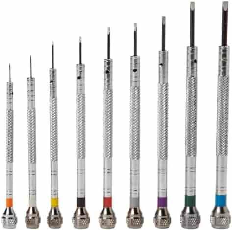 Optima 55-640 Nine Swivel Head Screwdrivers Box Watch Repair Kit