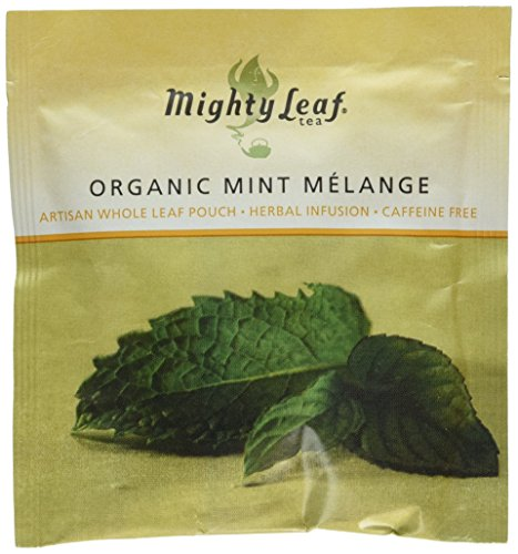 Organic Mint Melange - Mighty Leaf (100 Foil Wrapped Tea Pouches) (Tea Mighty Leaf Mint)
