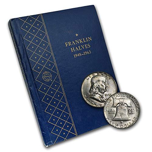 1948 1963 Franklin Half Dollar Set BU (Whitman Album) Brilliant ()
