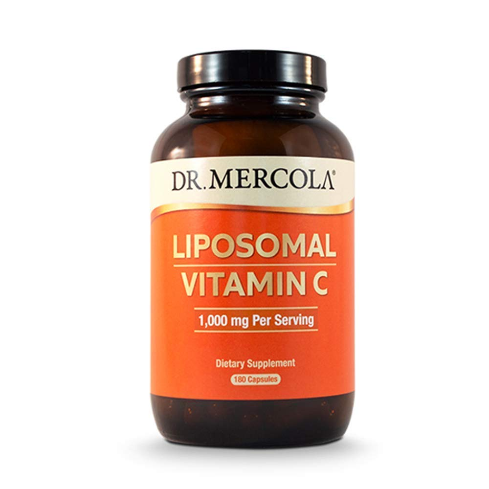 Dr. Mercola Liposomal Vitamin C Dietary Supplement, 1,000mg per Serving, 90 Servings (180 Capsules), Immune Support, Non GMO, Soy Free, Gluten Free by Dr. Mercola