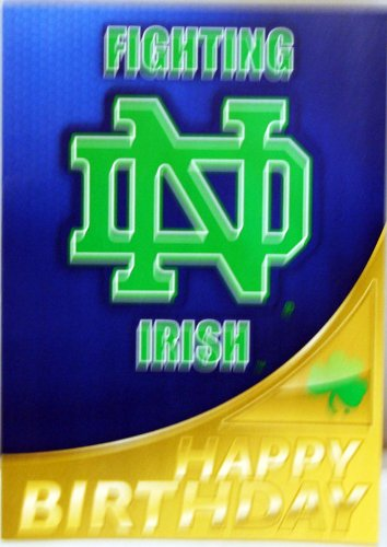 Amazon Notre Dame Fighting Irish Happy Birthday Card Office