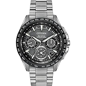 2ab5dc90e Mens Citizen Satellite Wave World Time GPS Titanium Alarm Chronograph Radio  Controlled Eco-Drive Watch CC9015-71E: Amazon.co.uk: Watches