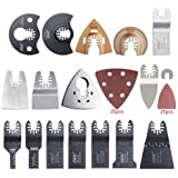 Newone Quick Change 66 pcs Oscillating Multi Tool Saw Blades Accessories Compatiable for Fein Black&Decker Bosch Chicago Royb