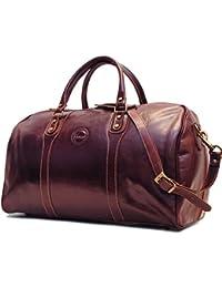 Duffle Vecchio Brown Italian Leather Weekender Travel Bag