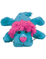 KONG - Cozie? King Lion - Indoor Cuddle Squeaky Plush Dog Toy - Bright Pink And Blue, Small