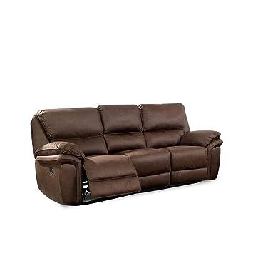 Amazon.com: Benjara Benzara BM177929 Double Recliner Sofa ...