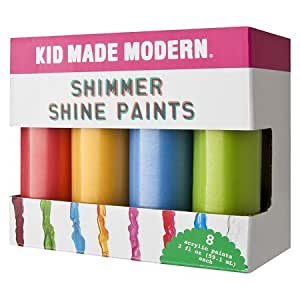 Kid Made Modern 8ct Acrylic Shine Paints - 2oz For 6 Years and Up