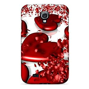 Fashionable Style Case Cover Skin For Galaxy S4- 3d Hearts