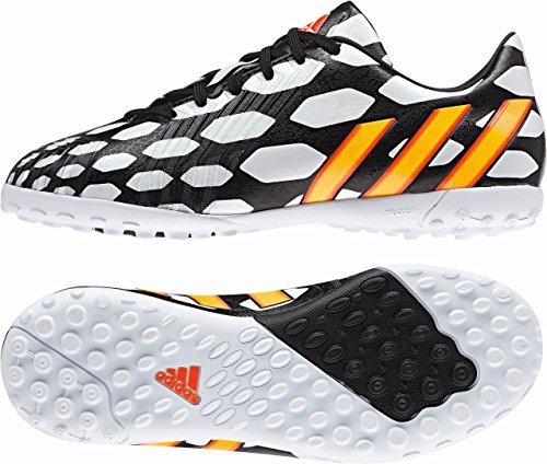 adidas Predator Absolado Instinct TF WC niños–Botas de fútbol negro/naranja neón/blanco blanco