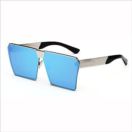 QZ HOME Gafas de Sol Mujer Street Beat Cara Redonda Protección polarizada Color UV Marco Cuadrado