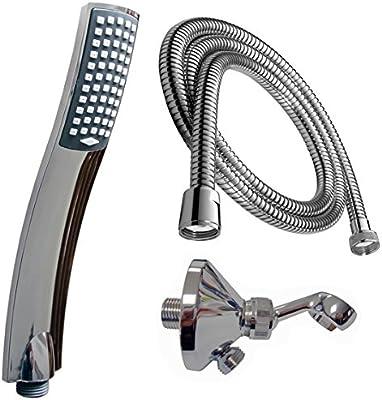 Duschkopf Set mit Schlauch Wandanschluss-Bogen Duschset Bad Design Handbrause