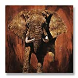Hand Painted Canvas Paintings Africa Unframed Tablet 36X36 inch (91X91 cm) for Living Room Bedroom Dining Room Wall Decor To DIY Frame Home Decoration by Neron Art