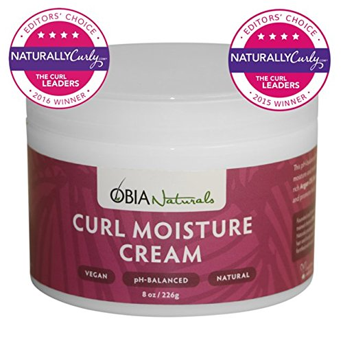 OBIA Naturals Leave in Conditioner for Curly Hair Curl Moisture Cream, 8 oz.