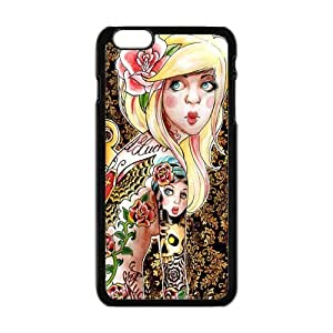 "Danny Store Hardshell Cell Phone Cover Case for New iPhone 6 Plus (5.5""), Cute Tattooed Girl by mcsharks"