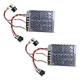 MagiDeal 2Pack 12V 24V 36V 48V DC Motor Speed Controller (PWM) Adjustable Reversible Switch with Box