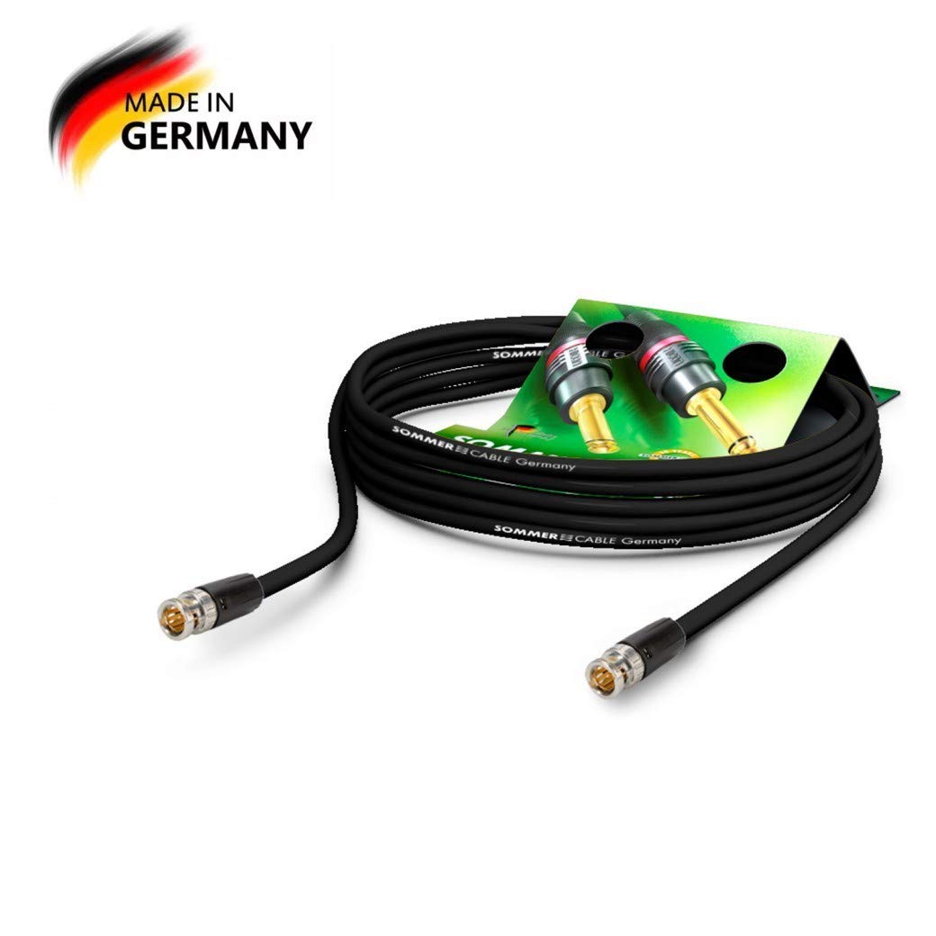 SommerCable - Cable de Video 75 Ω - HD/3G/6G/12G-SDI / 4K-UHD SC-Vector 0.8/3.7 - BNC/BNC NBNC75BLP9X NEUTRIK, Negro (3m) - Made in Germany by Sommer Cable