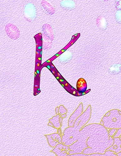 Monogrammed Soap Letter - K. Monogram Initial Letter K Cover. Blank Lined College Ruled Notebook Journal Planner Diary.