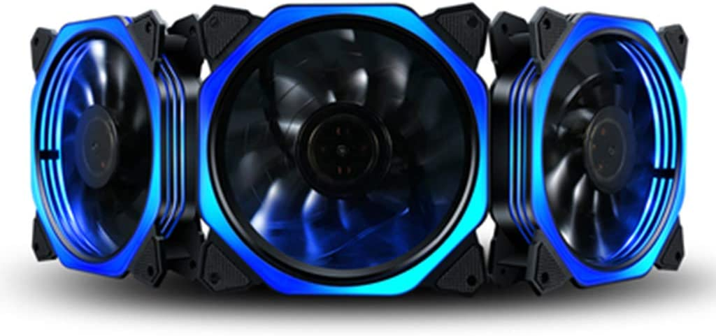 EAPTS 1PC 12cm Double Aperture Multi-Colored Silent LED Computer Case PC Cooling Fan 12V Cooling Fan