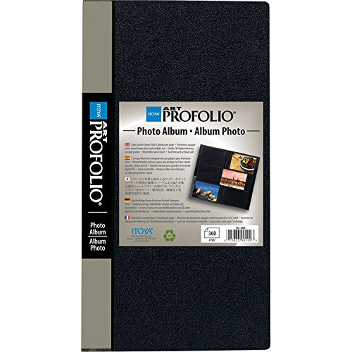 Itoya Art Portfolio Photo Album Photos Clear Pocket Sheets Hold 3 Photo Per Page (360 4 Inch x 6 Inch)