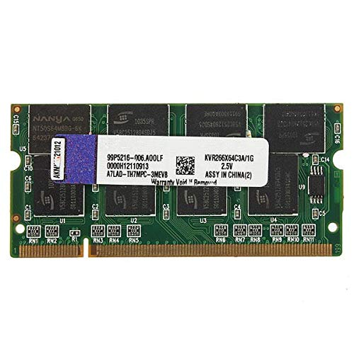 Computer Components Memory - 1GB DDR-266 PC2100 Non-ECC SODIMM Memory RAM KIT 200-Pin for Laptop - 1 x Memory RAM