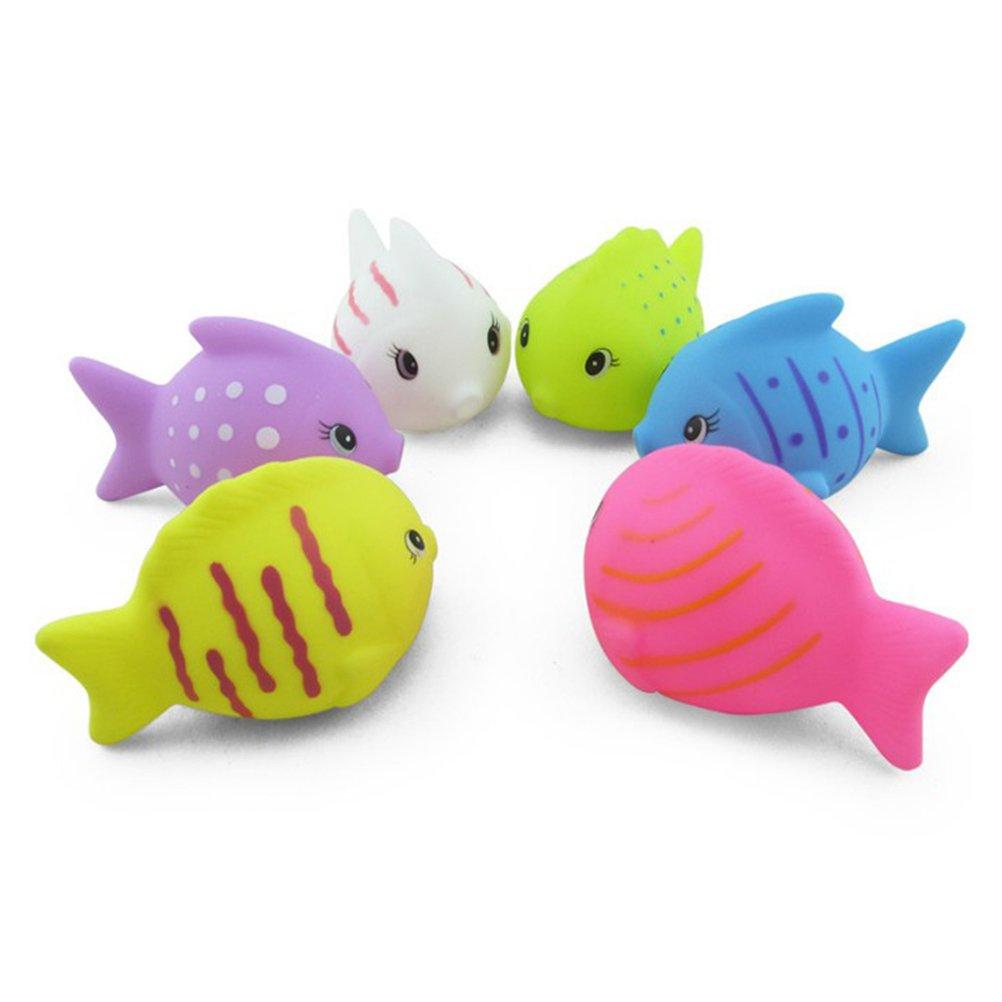 Amazon.com: TOYMYTOY Baby Bath Toys Fish Colorful Cute Toy Bathtime Fun Toys 6pcs: Toys & Games