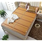 Summer Double-sided Folding Bamboo Mat Cool Mat Student Dormitory Single Double Household Mattress ZXCV (Size : 180200CM)
