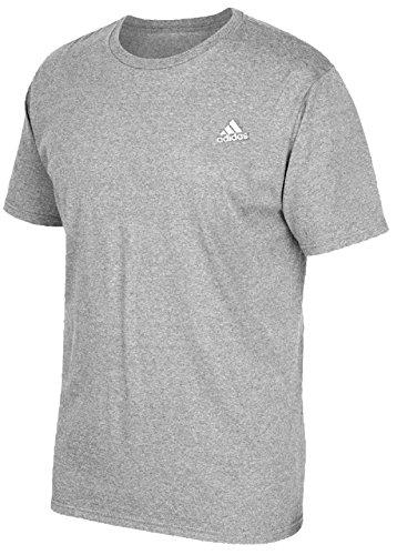 adidas Men's Short-Sleeve Crew Tee (Medium, Authentic Grey Heather)