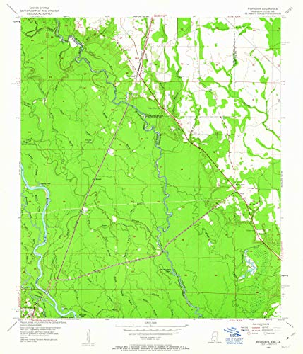 YellowMaps Nicholson MS topo map, 1:24000 Scale, 7.5 X 7.5 Minute, Historical, 1955, Updated 1963, 26.8 x 23 in - Tyvek ()