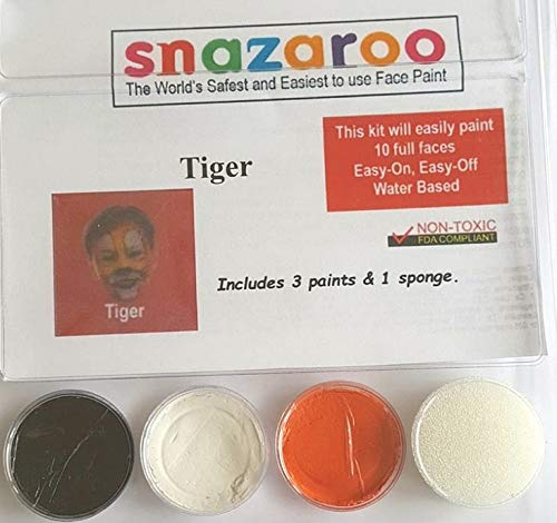 Snazaroo Tiger Face Paint Theme Kit with Sponge ()