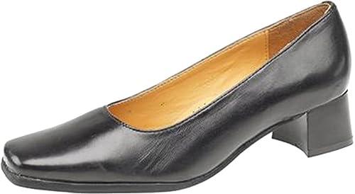 Amblers Ladies Walford Slip On Full Leather Office Formal Shoe Navy iDb7eIks