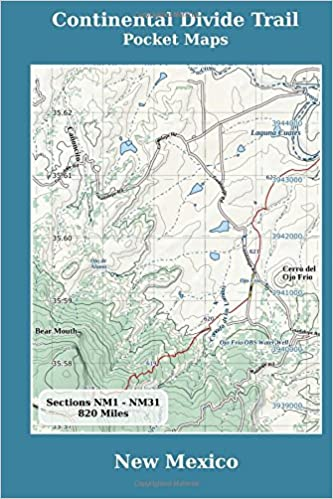 Continental Divide Trail Pocket Maps New Mexico K Scott Parks