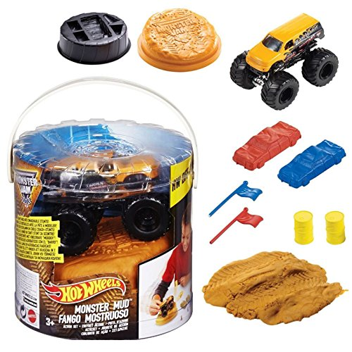 Hot Wheels Monster Jam Mud Action Set Bjp71 Bjp72   Color May Vary