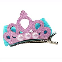 HuifengS Baby Girl Bowknot Crown Hair Clips Hairpins Princess Party Hair Accessories