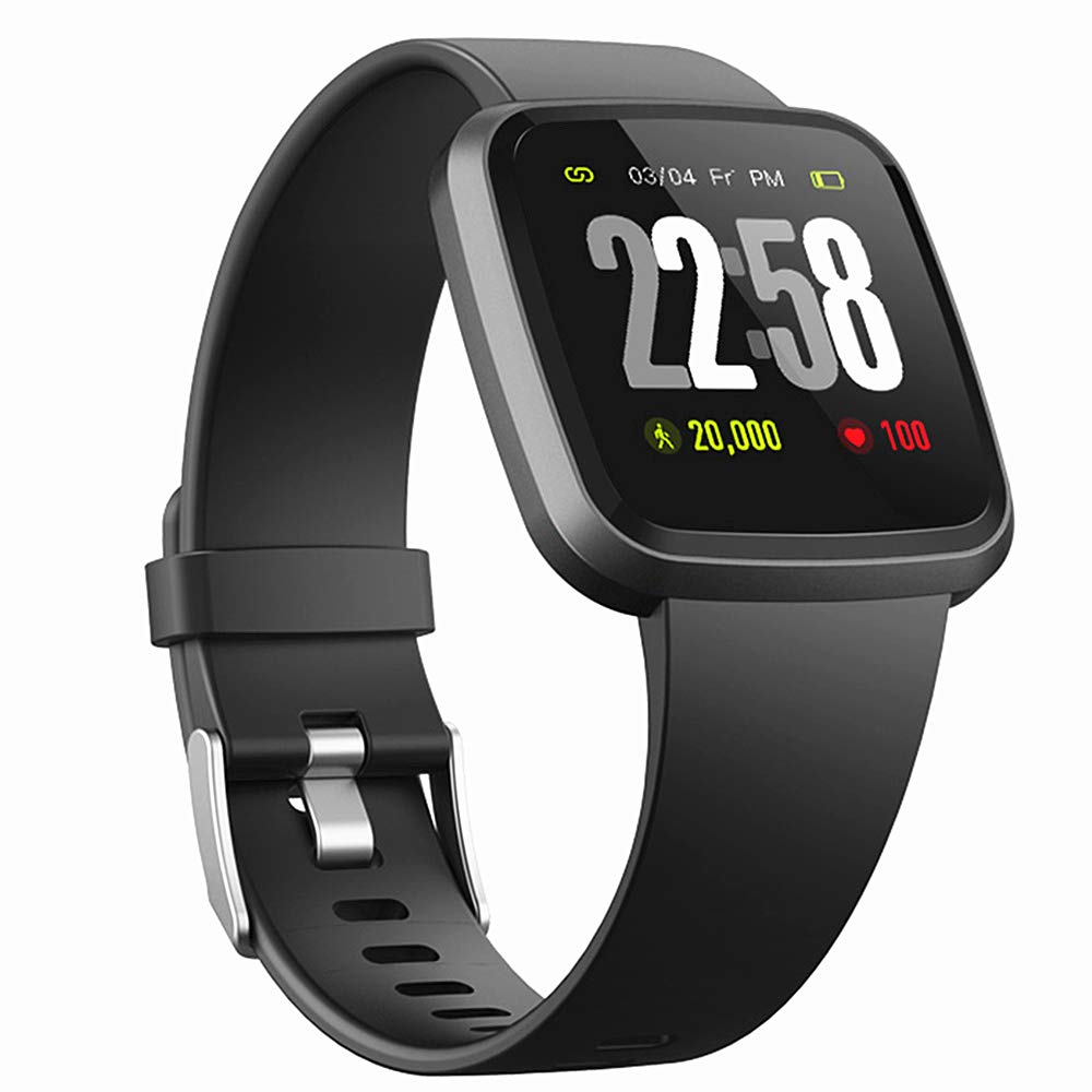 H4 Fitness Health 2in1 Smart Watch for Men&Women Smartwatch with All-Day Heart Rate Monitor Activitity Tracker Bluetooth Running Sports Pedometer Watch Compare with Android & iOS phones (Black) by DSMART