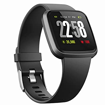 H4 Fitness Health 2in1 Smart Watch for Men&Women Smartwatch with All-Day Heart Rate Monitor Activitity Tracker Bluetooth Running Sports Pedometer ...