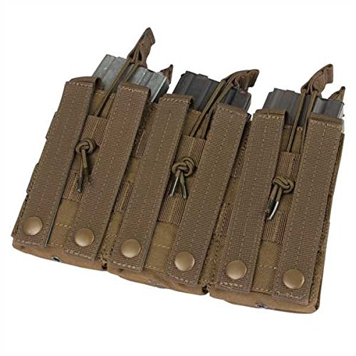 CONDOR Tactical Triple Stacker Open-Top Mag Pouch - Brown